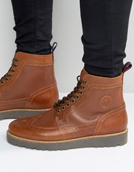 Fred Perry Northgate Leather Boots Tan