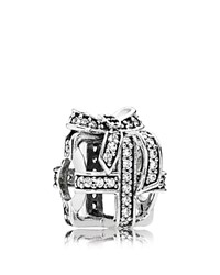 Pandora Design Pandora Charm Sterling Silver And Cubic Zirconia All Wrapped Up Moments Collection