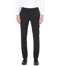 Sandro Slim Fit Tapered Wool Trousers Black