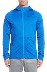 Nike Men's 'Hyperlite B Ball' Dri Fit Zip Hoodie Light Blue Iridescent