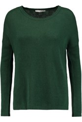 Autumn Cashmere Open Knit Sweater Green
