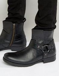 Red Tape Biker Boots Black