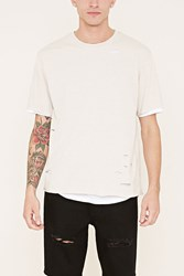 Forever 21 Distressed Layered Tee