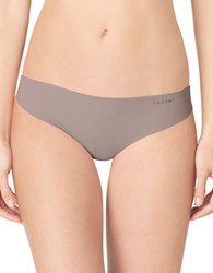 Calvin Klein Invisibles Thong Panty Beige