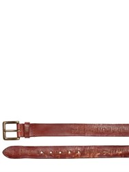 Htc Hollywood Trading Company 40Mm Lamar Carved Leather Belt