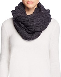 Bloomingdale's C By Cable Knit Loop Scarf Charcoal