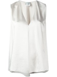 Forte Forte V Neck Classic Tank Nude And Neutrals