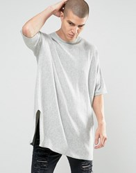 Asos Extreme Longline Jumper With Cashmere Grey