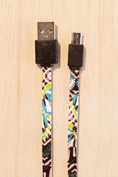 Urban Outfitters Uo Micro Usb Lightning Cable Black