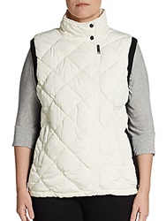 Marc New York Performance Sizes 14 24 Diamond Quilted Zip Front Vest Ivory