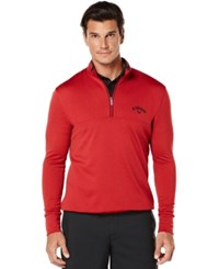Callaway Golf Performance 1 4 Zip Waffled Fleece Tango Red