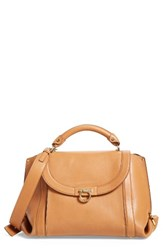 Salvatore Ferragamo Medium Suzanna Leather Satchel Brown Sella