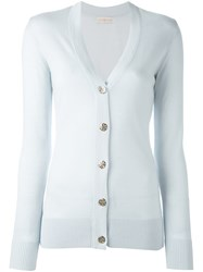 Tory Burch 'Simone' Cardigan Blue