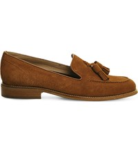 Office Naples Tasseled Loafers Tan Suede