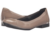 Naturalizer Therese Dover Taupe Leather Shiny Women's Shoes Brown