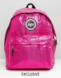 Hype Exclusive All Over Sequin Backpack Pink