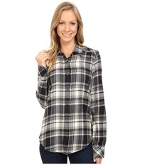 Kavu Georgia Black Smoke Women's Long Sleeve Button Up