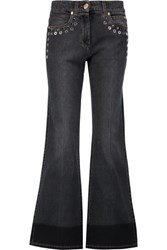 Sonia Rykiel Embellished Mid Rise Bootcut Jeans Black
