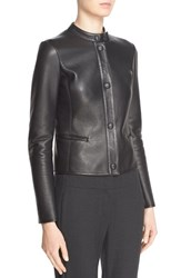 Women's Armani Collezioni Lambskin Leather Jacket