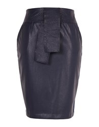 Melissa Mccarthy Seven7 Plus Colorblock Pencil Skirt Blue