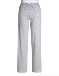Lord And Taylor Plus Pima Cotton Lounge Pants Heather Grey