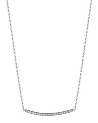 Curved Bar Diamond Pendant Necklace Penny Preville