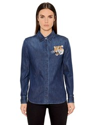 Stella Mccartney Tiger Stretch Cotton Denim Shirt