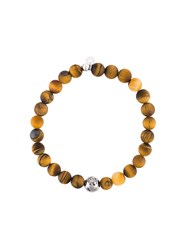 Tateossian Beaded Bracelet Brown