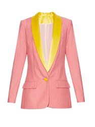 Racil Miami Single Breasted Tuxedo Blazer Pink