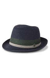 Men's Ben Sherman 'Wide Stripe' Straw Trilby