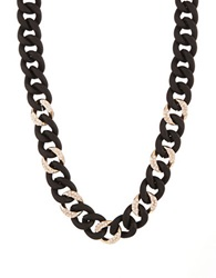A.B.S. By Allen Schwartz Chain Link Collar Necklace Black