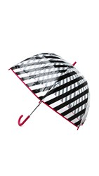 Kate Spade Black Stripe Umbrella Black Stripe Multi
