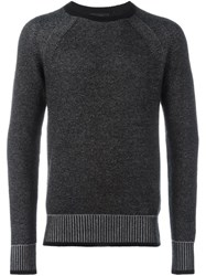 Belstaff Contrast Ribbed Sweater Black