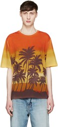 Saint Laurent Multicolor Palm Tree T Shirt