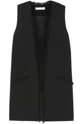 Elizabeth And James Hanover Fringed Crepe Vest Black