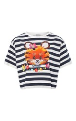 Cynthia Rowley Striped Funny Tee Navy
