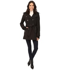 Jessica Simpson Double Breasted Softshell Jacket Black Women's Coat