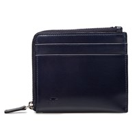 Il Bussetto Navy Leather Zip Wallet Blue
