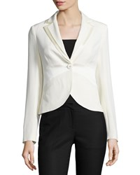 Moschino One Button Fitted Blazer Ivory