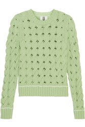 Topshop Unique Ixworth Cable Knit Cotton Blend Sweater