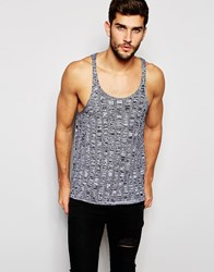 Asos Knitted Vest In Black Twist Black Twist