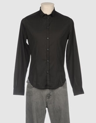 Master Coat Long Sleeve Shirts Black
