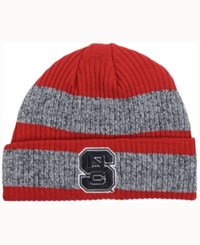 Adidas North Carolina State Wolfpack Player Watch Knit Hat Red Heather Gray