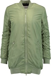 W118 By Walter Baker Talia Quilted Shell Bomber Jacket Army Green