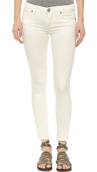 Free People Mid Rise Roller Cropped Jeans Hong Kong White