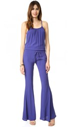Flynn Skye Not Just A Flare Jumpsuit Navy