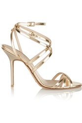 Burberry Metallic Leather Sandals