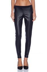 Bobi Spandex Faux Leather Legging Black