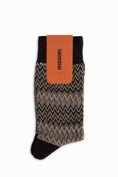 Missoni Zigzag Socks Black