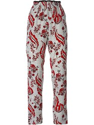 Vanessa Bruno Floral Print Trousers White